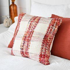 Woven Plaid Farmhouse Throw Pillow