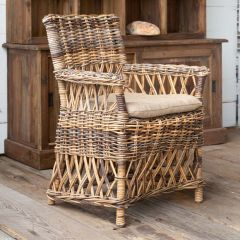 Woven Rattan Plantation Chair