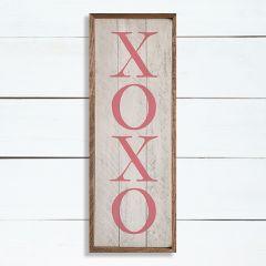 XOXO Pink Framed Sign