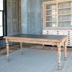 Zinc Top Old Elm Farmhouse Table