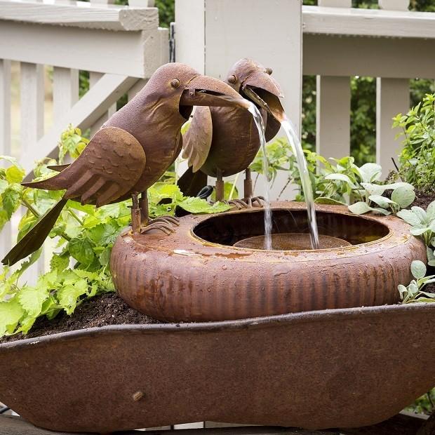 Crow Water Fountain